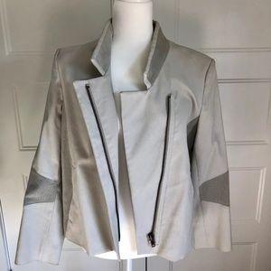 Helmut Lang Cotton & Corduroy Moto Jacket